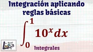 Integral de una función exponencial l Teorema fundamental del cálculo l La Prof Lina M3