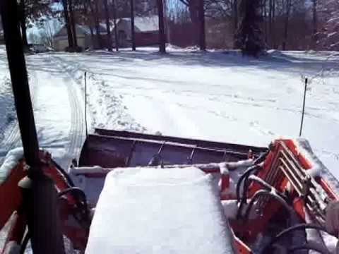 Kubota Plowing Snow