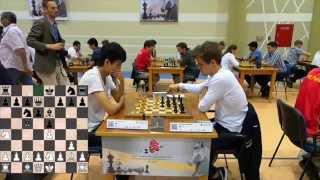 Lu Shanglei - Magnus Carlsen in World Blitz Championship -Dubai June 2014