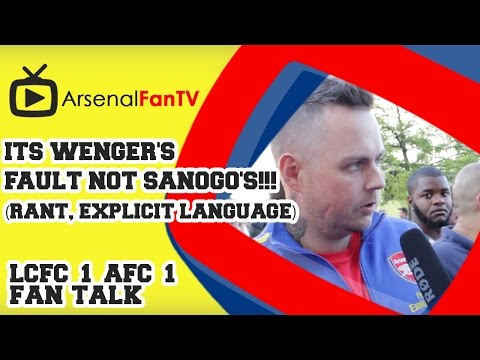 'It's - Its Wenger's Fault Not Sanogo's!!! (Rant) - Leicester City 1 Arsenal 1. (Explicit language). AFTV APP: IPHONE : http://goo.gl/1TNrv0 AFTV APP: ANDROID: http://goo.gl/uV0jFB AFTV ONLINE SHOP...
