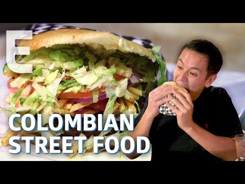 The Giant Arepa Burger Born out Of Colombia's Street Food Wars — Dining on a Dime