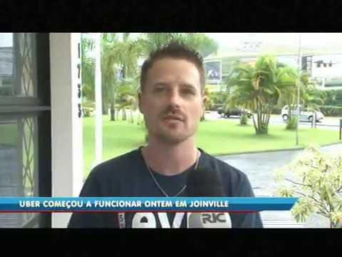 Uber começou a funcionar em Joinville