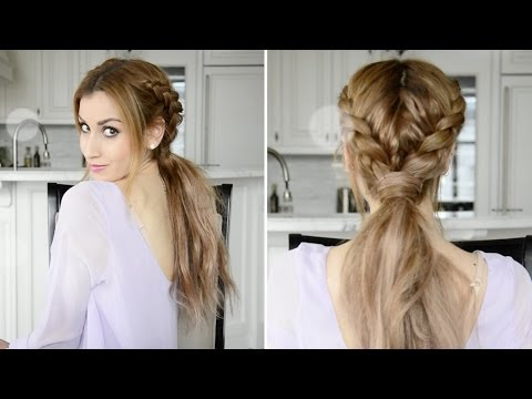 Messy Braided Boho Ponytail Hairstyle | Fancy Hair Tutorial