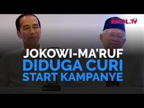 Jokowi-Ma'ruf Diduga Curi Start Kampanye