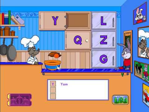preschool - Reader Rabbit Preschool Part 1: ABC Diner (Ticket 1)