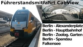 Falkensee Germany  city photos : Führerstandsmitfahrt / CabView: RE2 - Berlin Alexanderplatz - Hauptbahnhof - Spandau - Falkensee