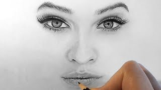 Video How to draw, shade realistic eyes, nose and lips with graphite pencils | Step by Step MP3, 3GP, MP4, WEBM, AVI, FLV September 2018