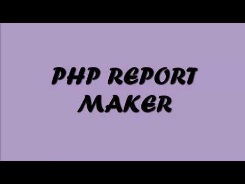 PHPMAKER DAN PHP REPORT MAKER SUPERMARKET