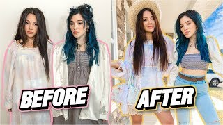 Making Ugly Clothes Cute Challenge (thrift flip) by Niki and Gabi