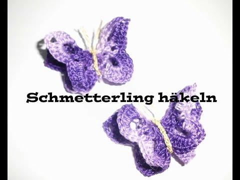 3D Schmetterling häkeln – Applikation oder Tischdeko häkeln