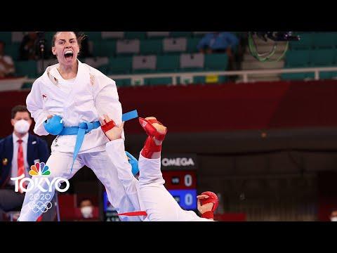 Jovana Prekovic given 61kg kumite gold by hantei in scoreless final | Tokyo Olympics | NBC Sports