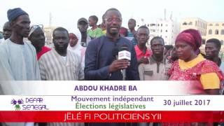ABDOU KHADRE BA, candidat indépendant du mouvement DEFAR SENEGAL