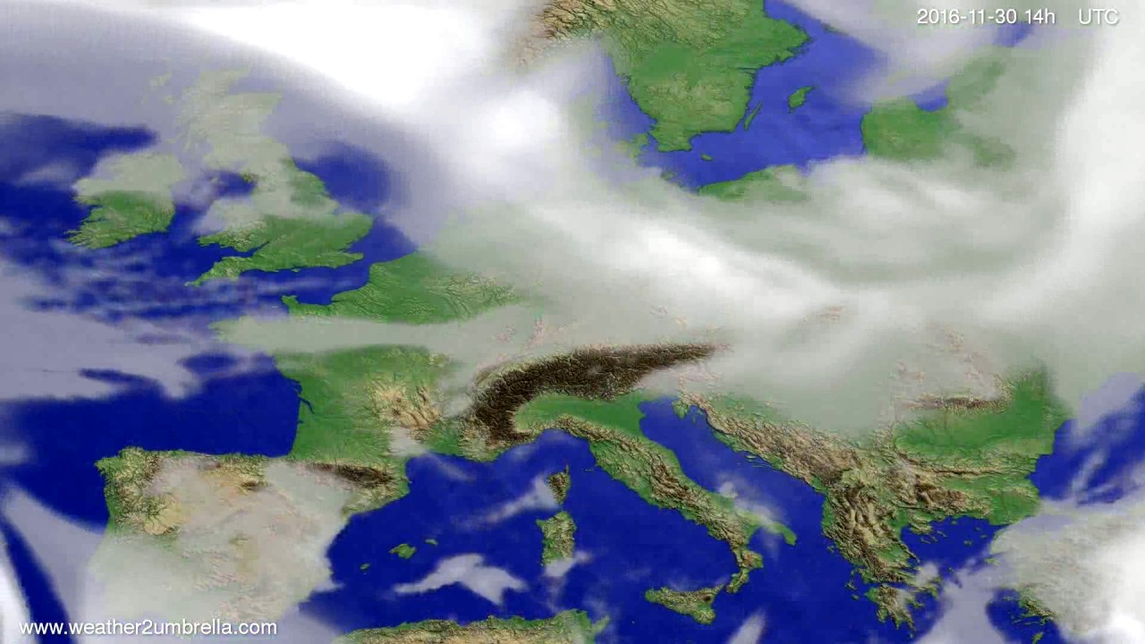 Cloud forecast Europe 2016-11-26