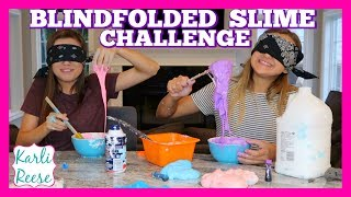 """We wanted to try to make slime blindfolded and see how well it turns out! I seen others doing this and it looked like a lot of fun!  (Sorry for the noise in the background...my family was moving some things from the old house)♥  SUBSCRIBE!   http://bit.do/karlireeseI post new videos every Friday!Watch my last video -  https://youtu.be/0hajxLUPjyE1 Year Ago -  https://youtu.be/2agTJKZKeiMDaily videos at my Our Family Nest - http://youtube.com/ourfamilynestMy Mom's Channel - http://bit.ly/2ffeAACMy Dad's Channel - http://bit.ly/2gh00roAndrew's Channel - I am Drew -  http://youtube.com/iamdrew95♥ FOLLOW ME ♥i  n  s  t  a  g  r  a  mhttp://instagram.com/karlireeset  w  i  t  t  e  rhttp://twitter.com/karlireesem u s i c a l y . l y24_karkar_24f  a  c  e  b  o  o  k http://facebook.com/iamkarlireeseb  l  o  g   http://karlireese.com*************************************************************♥ BUSINESS INQUIRIES ♥mail@ourfamilynest.com - Subject Line """"KarliReese""""*************************************************************Thank you for watching my video today! You can also find me on our family's channel - Our Family Nest.  On my channel you will find more of what I love... shopping, crafts, dance, gymnastics, and my pets…Pretty much anything girly! Thank you for stopping by and I hope you have fun here on my channel.Note... My YouTube channel is monitored and ran by my parents :)♥ Karli ReeseSome Music in videos by Epidemic Sound - http://www.epidemicsound.com"""