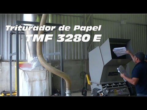 Triturador de Papel para Reciclagem TMF 3280 E