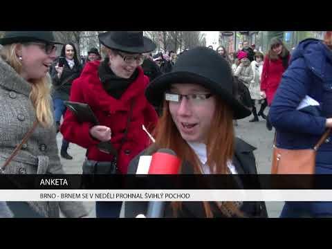 TV Brno 1: 8.1.2017 Brnem se v neděli prohnal Švihlý pochod.