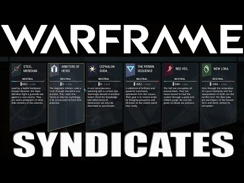 Warframe Syndicates, Rewards and Thoughts