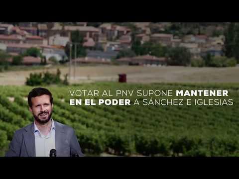 Votar al PNV supone mantener en el poder a Sánchez e Iglesias