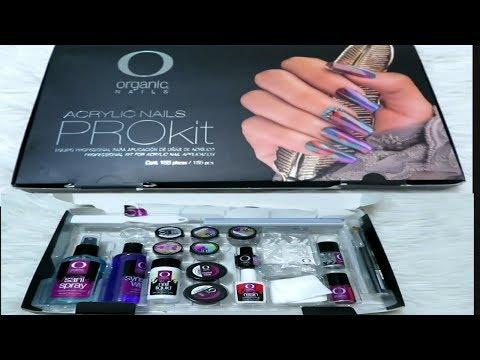 Kit básico para poner uñas acrilicas organic nails |Materiales básicos para poner uñas acrilicas