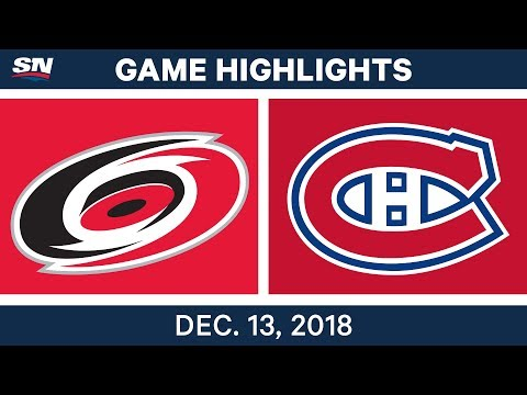 NHL Highlights  Hurricanes vs. Canadiens - Dec 13, 2018