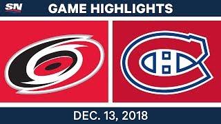 NHL Highlights | Hurricanes vs. Canadiens - Dec 13, 2018 by Sportsnet Canada