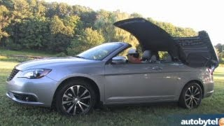 2013 Chrysler 200S Convertible V6 Test Drive&Entry-Level Luxury Car Video Review