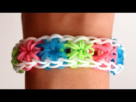 Rainbow Loom English – STARBURST – Loom Bands, easy, how to, DIY