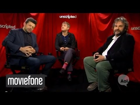 Andy Serkis - Subscribe to Moviefone Today: http://bit.ly/15j8XWV Watch More Unscripted Here: http://bit.ly/YAburB **** More Below **** Peter Jackson, Andy Serkis and Mart...