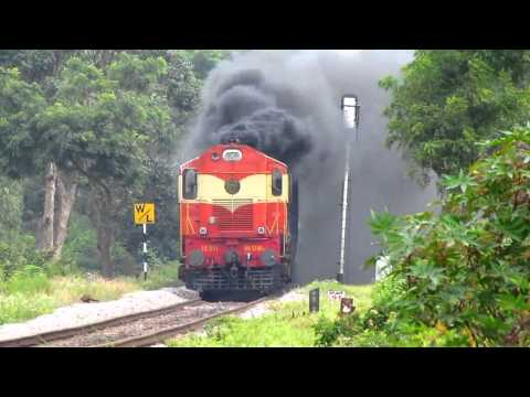 Extreme smoking by KZJ ALCo @ 103kmph with Udyan express !!!