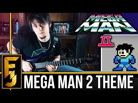 Mega Man 2 Intro/Theme Metal Guitar Cover | FamilyJules (видео)