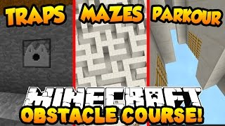 Minecraft OBSTACLE COURSE PARKOUR! (Traps, Mazes & More!) with PrestonPlayz