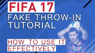 A tutorial how to use the new fake throw-in in FIFA 17 effectively.▼Click here for additional information! :-)We explain the new technique how to perform the new fake throw-in in FIFA 17 and provide tips and tricks to use it effectively.Also checkout our other tutorial videos about FIFA 17:https://www.youtube.com/playlist?list=PLsmsVY17ANMz_Lsac5truk0XnAm94gsB_FIFA 17 New Penalties: https://www.youtube.com/watch?v=TrnM80qqPf4• FIFA 17 GuideThis video is going to be a part of a huge FIFA 17 guide. If you are interested in more information on that, check out our Patreon campaign: https://goo.gl/ApPkDiWe are going to provide more information within the next weeks and keep you updated on the progress!• Pre-order FIFA 17 and support bPartGaming for free!http://goo.gl/Zq88qgThanks!• Social MediaFacebook: http://bit.ly/bPG-FacebookTwitter: http://bit.ly/bPG-TwitterGoogle+: http://bit.ly/bPG-Googleplus