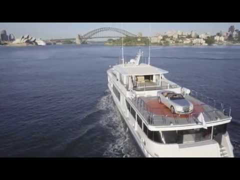 VIDEO: Watch the new $750,000 Rolls-Royce convertible sail into Sydney Harbour
