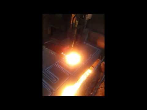140mm S355 J2+N MALZEME KESİMİ -  140MM MILD STEEL OXY CUTTİNG