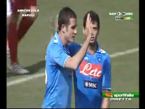 Napoli-Grosseto Eurogoal DI  Lucarelli.30-07-2011
