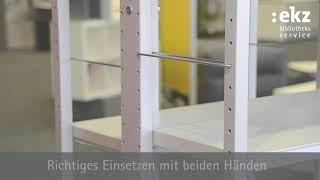 Regalystem R.7/2 – Endbuchstützenbügel einfach eingesetzt