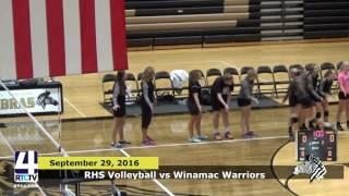 RHS Volleyball vs. Winamac- Senior Night