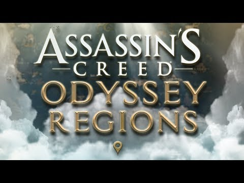 Assassin's creed: ODYSSEY ALL LOCATIONS -  REGIONS MAP