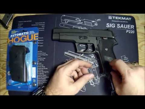 Installing Replacement Hogue Grips on Sig Sauer P220 (P226, P227, P229, etc.)