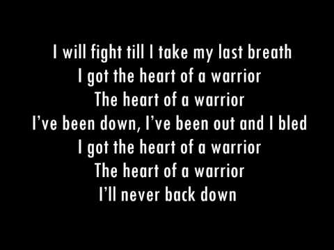 Heart of a warrior Lyrics