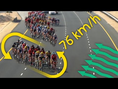 The Most Devastating Echelon in Cycling (76kmh)