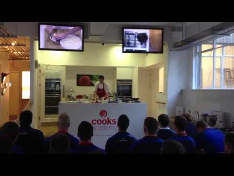 Leinster Rugby Academy Players Cooking Lessons.
