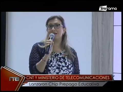 CNT y ministerio de Telecomunicaciones lanzaron Chip Prepago Educativo