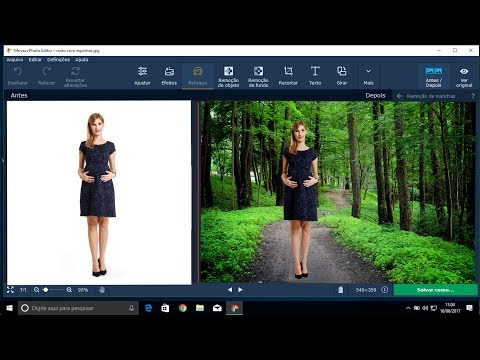 Como remover fundo de foto no Movavi Photo Editor