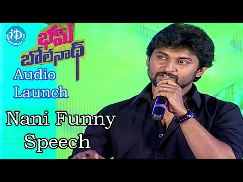 Video Nani Funny Speech @Bham Bolenath Audio Launch |Navdeep | Naveen Chandra download in MP3, 3GP, MP4, WEBM, AVI, FLV January 2017