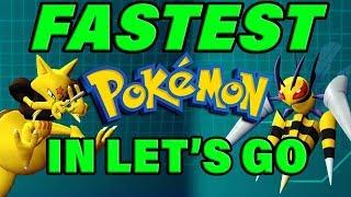 Pokemon Let's Go FASTEST Pokemon List! Best Pokemon Let's Go Team Building! by Verlisify
