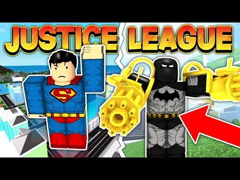 JUSTICE LEAGUE VS CRIMINALS (ROBLOX MAD CITY)