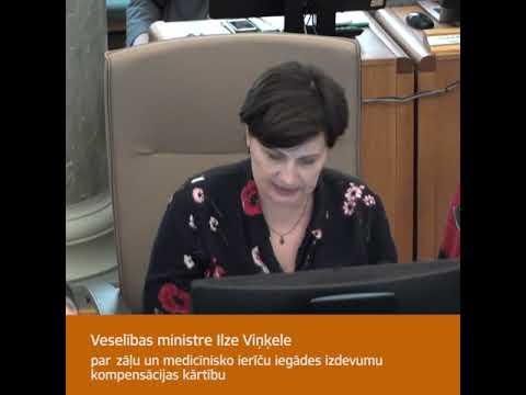 Veselības ministre Ilze Viņķele par kompensējamo medikamentu izmaksu samazināšanu
