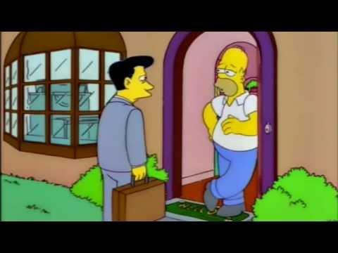 Homer Simpson buys a gun