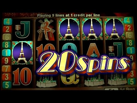 Paris Lights 20 Spins - 5c Aristocrat Video Slot + Coming Soon...